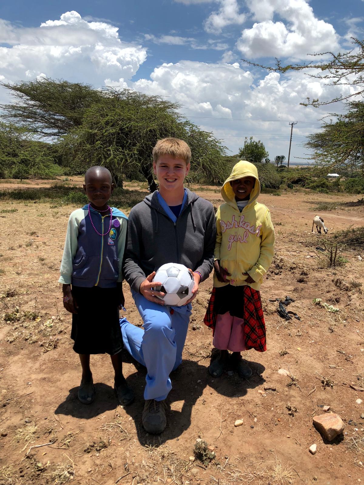 brad soccer with kids
