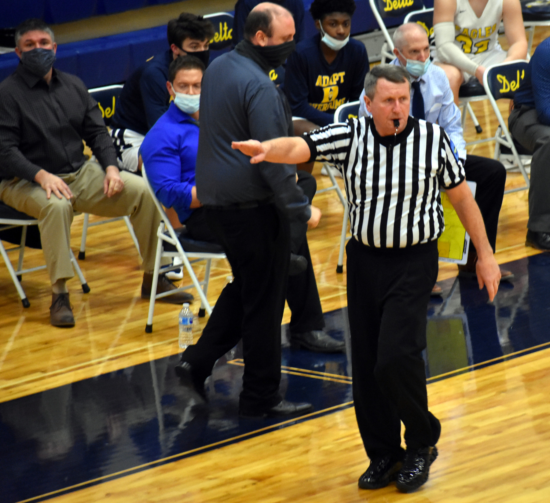 Ref makes call