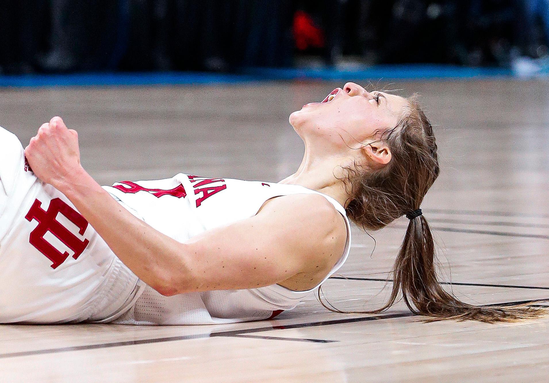 IU women's basketball player